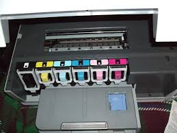 Picture Of The Ink Seats With All Six Cartridges HP Photosmart C6280 In
