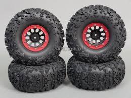 100 Rc Truck Wheels 22 Rims Rock CRAWLER Beadlock Set Of 4 RED