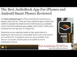 Best AudioBook App For iPhone and Android Smart Phone Devices
