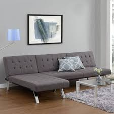 Buchannan Faux Leather Sectional Sofa by Convertible Futon Chaise Lounger Sofa Sleeper Bed Leather