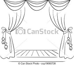 Stage Black And White Clipart