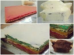bunte karnevals torte regenbogen velvet