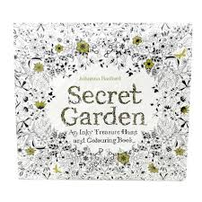 Secret Garden An Inky Treasure Hunt And Colouring Book 24 Pages English
