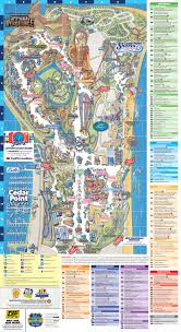 100 Truck Route Driving Directions Map Cedar Point