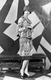 Woman Wears Dress And Hat From The 1920s Original Caption Flapper Of 1925 Period