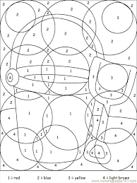 Coloring Pages Printable Nice Ideas Games For Kids To Color Activity Preschooller Abstract Colorful Number