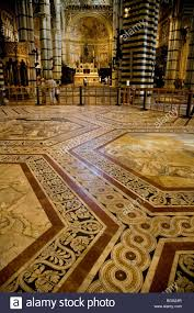 Section Of The Vast And Fabulous Marble Floor Or Pavement Duomo In Siena Tuscany