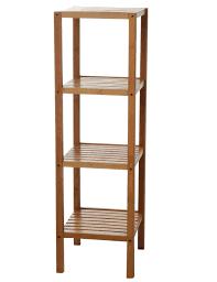 eisl badezimmer bambus regal mit 4 fächern bambusfarbe 34 x 33 x 110 cm