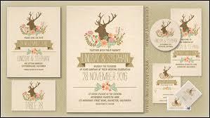RUSTIC WEDDING INVITATIONS Deer Antlers Invitation