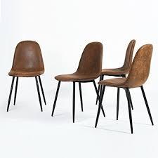 n b f set aus 4 stühlen skandinavischen braun esszimmer