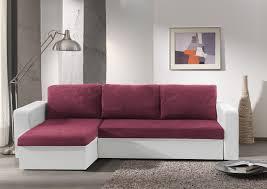 canapé d angle convertible réversible microfibre prune pvc blanc
