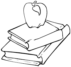Book Apple On Stack Of Colouring Page