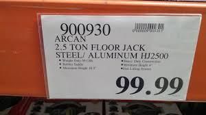 Aluminum Floor Jack 3 Ton by Arcan 2 5 Ton Hybrid Floor Jack Hj2500 Costco Weekender