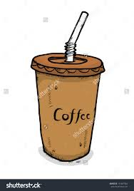 Cool Clipart Cold Coffee Iced Drawing At Getdrawings Picture Black And White