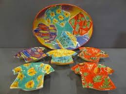 Shopgoodwill Clay Art Hand Painted Shirt Platter