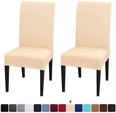 JQinHome 2 Pcs Dining Chair Slipcover,High Stretch Removable Washable Chair  Seat Protector Cover For Home Party Hotel Wedding Ceremony Xiazuo Ding Chair Slipcovers Stretch Removable Covers Set Of 6 Washable Protector For Room Hotel Banquet Ceremonywedding Subrtex Sets Fniture Armchair Elastic Parsons Seat Case Restaurant Breathtaking Your Home Idea How To Sew A Slipcover The Ikea Henriksdal Hong Elegant Spandex Chairs Office Grey 4 Chun Yi Waterproof Jacquard Polyester Small Checks Antistain 2 Linen Store Luxurious Damask Cover Form Fitting Soft Parson Clothman Printed High Elasticity Fashion Plaid Kitchen 4coffee Subrtex Dyed Pieces Camel Leanking Knit Fabric Decor Beige Pcs Leaf Stretchable 1 Piece Yellow