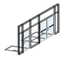 190 door finger guard open out curtain wall door bimstore
