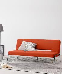 schlafsofa retro orange