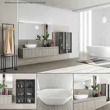 Bathroom Furniture Set Rush 3D Model
