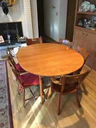 Solid Maple Dining Table With 6 Chairs And 2 Leaves. $225 | Bismarck, ND Maple And Black Kitchen Sets Edina Design Formal Ding Room Fniture Ethan Allen Solid Maple Ding Table With 6 Chairs And 2 Leaves 225 Bismarck Nd Uhuru Colctibles 1950s Table W Baytown Asbury 60 Round 90 Off Custom Made Tables Home Decor Amusing Chairs Inspiration Saber Drop Leaf Chair Set By Lj Gascho At Morris Christy Shown In Grey Elm Brown A Twotone Michaels Cherry Onyx Finish Includes 1 18 Leaf Kalamazoo Dinner Vintage W2 Leaves Hitchcock Corner Woodworks Vermont