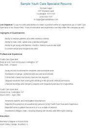 Physical Security Specialist Resume Sample Youth Care Ideas For Highschool Students