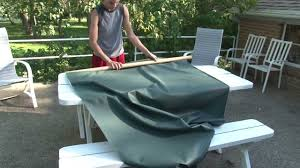 Patio Tablecloth With Umbrella Hole by Make Your Own Outdoor Tablecloth And Placemats Youtube