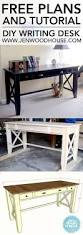 Sewing Cabinet Woodworking Plans by Best 20 Build A Desk Ideas On Pinterest Cheap Office Desks