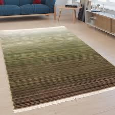 teppich moderner kurzflor teppich für wohnzimmer mit farbverlauf in grün