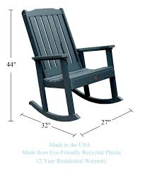 Phat Tommy Outdoor Recycled Poly Highwood Lynnport Rocking Chair – Made In  USA, Eco-Friendly Patio Furniture