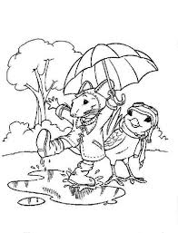 Rainy Day Coloring Pages Printable For Kids And Tom Jerry In Throughout