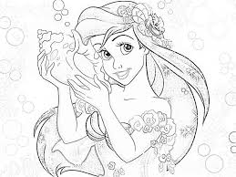 Absolutely Disney Princess Coloring Pages Image 1
