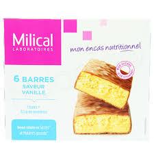 cuisine de a à z minceur milical nutrition 27g x 6 barres minceur saveur vanille naocia