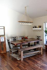 Rustic Reclaimed Dining Room With Upcycled Mason Jar Chandelier