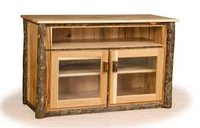 log entertainment center rustic tv stand hickory furniture