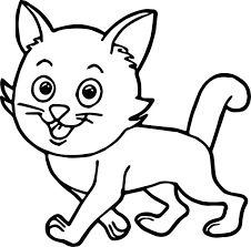 Walking Cat Coloring Page Pages Halloween Scary For Toddlers