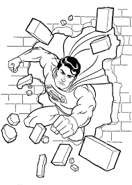 Anime Manga Coloring Pages Superman