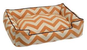 trendy chevron printed dog beds by jax and bones