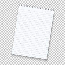 Notepad Isolated On Transparent Background Royalty Free Cliparts Regarding Notebook Paper 28217