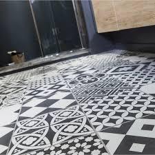 carrelage cuisine noir et blanc carrelage sol et mur noir et blanc effet ciment gatsby l 20 x l 20
