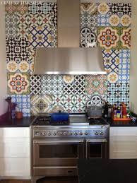 modified patchwork cement tile shop colorful kitchen backsplash