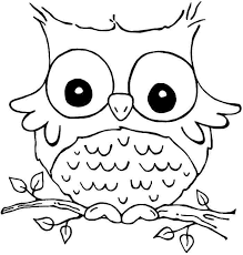 Owl Coloring Pages Vintage Free Printables