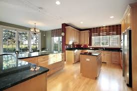 dark kitchen cabinets with light wood floors gurus floor winters