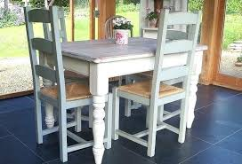 Farmhouse Style Dining Table Painted For Small Room