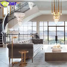 großhandel fumat moderne kristall kronleuchter wohnzimmer le pendelleuchte lüster de cristal innenbeleuchtung kristall anhänger für kronleuchter