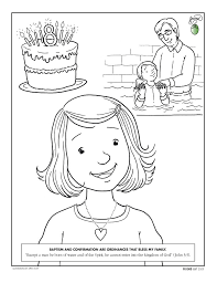 Coloring Page Baptism And Confirmation Are Ordinances That Bless My Family