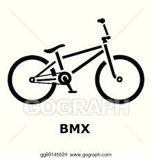 BMX Bike Icon Simple Style