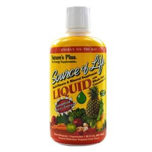 Nature's Plus Source of Life Multi-Vitamin Liquid, Tropical Fruit - 30 fl oz bottle