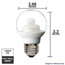 ge 62993 1 8w led g16 5 globe e26 120v clear energy smart 3000k