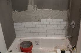 tiling a shower wall with white ceramic tile color ideas home