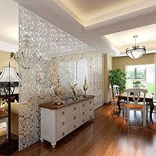 yizunnu raumteiler zum aufhängen sichtschutz pvc heim hotel bar dekoration zum selbermachen 40 6 x 40 6 cm 4 stück set holz weiß 40 x 40